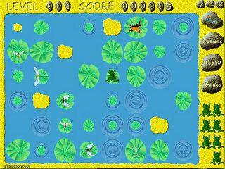Einfaches Spiel in dem Sie einen Frosch bei der Nahrungsche unterstützen