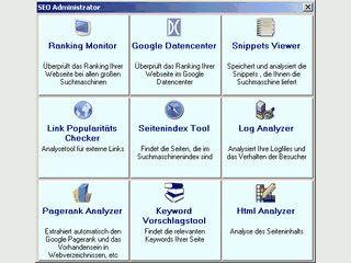 Verschiedene SEO Tools zum erfolgreichen Bewerben von Webseiten.