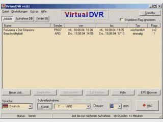 Steuerzentrale um aus Ihrem PC einen Videorekorder zu machen.