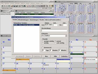 Netzwerkfähiger Terminplaner mit integriertem Adressmodul und Message-Funktion