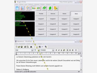 Textbausteine können per Drag'n Drop in beliebige Anwendungen gezogen werden.