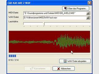 MIDI Dateien in WAV Dateien umwandeln