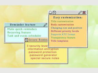 Umfangreiche Verwaltung für  Notizen mit Alarm-Funktion auf Ihrem Desktop