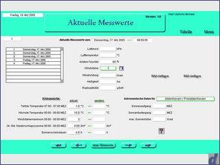 Software zur Erfassung von meterologischen Messdaten