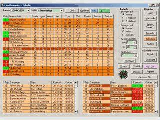 Ligamanager mit umfangreichen Archiven für EM, WM und Bundesliga