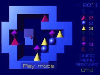 Denkspiel in der Art von Puzznic mit 3D Grafik, Undo und Movie-Funktion
