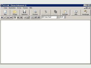 Einfacher Text-Editor für Dateien im RichTextFormat RTF
