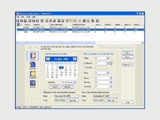 TimePuter - ein Zeit/Datum-Rechenprogramm mit vielen verbundenen Eigenschaften.