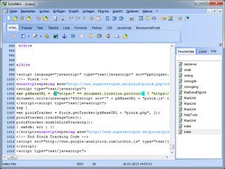 Text- und Programmier-Editor mit Syntax-Hervorhebung und HTML WYSIWYG