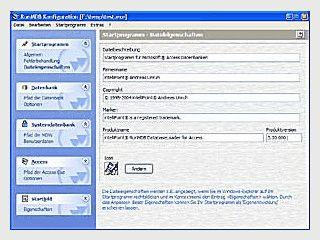 Startprogramme für MS Access Datenbanken erstellen.