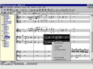 Software zum Schreiben, Arrangieren und Anhören von Noten und Kompositionen