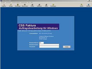 CSS Faktura zur Auftragbearbeitung.