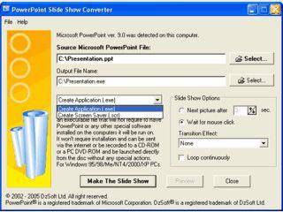 PowerPoint Präsentationen in eine selbstlaufende EXE Slideshow konvertieren.