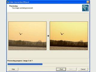 Stapelverarbeitungs-Utilitie zur automatischen Bildkorrektur.