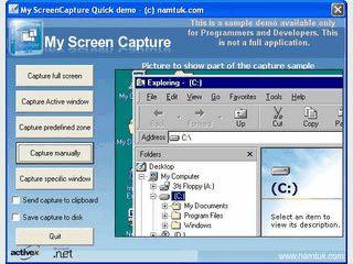 ActiveX mit dem Sie in Ihren Anwendungen Screenshots erfassen können