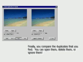 Sucht auf Ihrem Computer nach gleichen, doppelten Bildern.