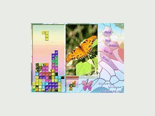 Eine Tetris Variante für Pocket PCs mit Bildern von Schmetterlingen