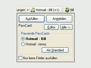 Komfortable Passwortverwaltung und intelligenter Formularausfüller