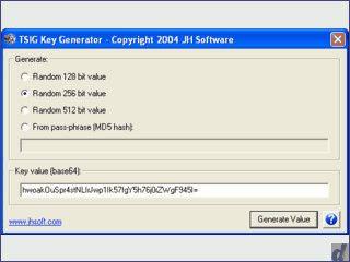 Erzeugt zufällige Schlüssel mit 128, 265, 512-Bit oder als MD5 Hash