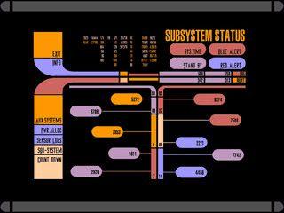 Ein Bildschirmschoner, der verschiedene LCARS-Anzeigen simuliert.