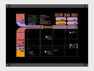 Der Bildschirmschoner simuliert eine Beobachtungsstation im Sektor 76421