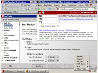 Archiviert besuchte Web Seiten mit Ihrem Browser zur On- und Offline Nutzung.