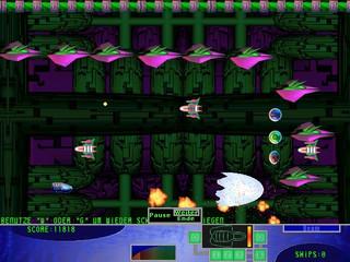 Weltraumballerspiel mit Spielhallen-Touch.