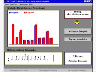 Ein Rhythmus-Übungsprogramm mit vielen Einstellungsmöglichkeiten