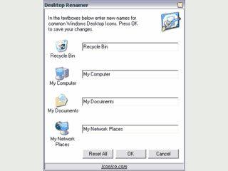 Kleines Tool zum Umbenennen des Papierkorb, Mein Computer, Netzwerk und ...