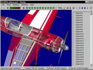 Tool zur Optimierung und Größen-Reduzierung von 3D Modellen