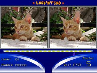 Finden Sie die fünf Unterschiede zwischen rechtem und linken Bild