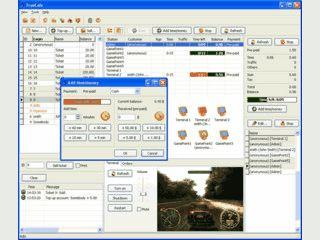 Software zum Betrieb eines Internetcafe