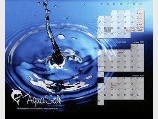 Ein tagesaktueller 3-Monats-Kalender auf Ihrem Windows Desktop.