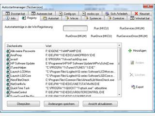 Einfaches Bearbeiten der Autostart-Gruppe und der Systemdateien