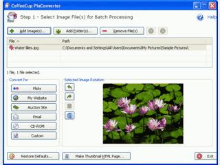 Praktisches Utilitie zur Automatisierung von Bild-Konvertiererungen