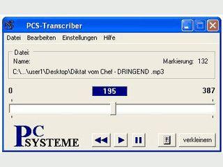 Wiedergabesoftware als Ersatz für das Diktiergerät.