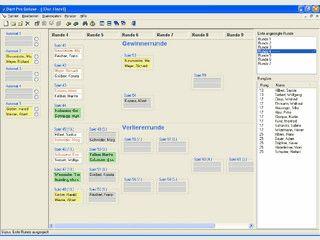 Dart Turnierverwaltung für KO- und Doppel-KO-Systeme