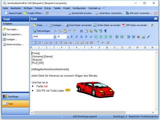 Personalisierte Serienbriefe, Serienfaxe und PDF-Dateien erstellen