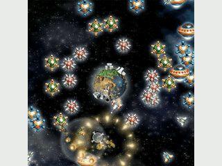 Guter Weltraumshooter mit neuer Spielidee. Schützen Sie Ihren Planeten.