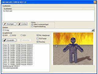 AVI und MPG Videos in DVDs oder Video-CDs konvertieren