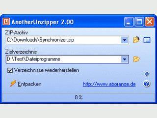 Einfaches Tool zum schnellen Entpacken von ZIP-Archiven