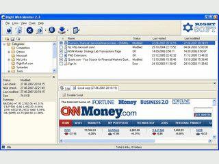 Überwacht Web-Ressourcen wie Webseiten oder FTP-Dateien auf Veränderungen.
