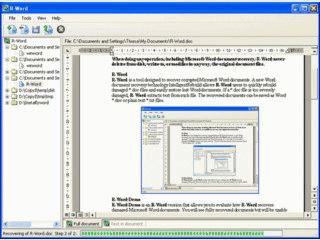Beschädigte MS Word Dateien wiederherstellen oder Inhalte daraus retten.