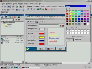Web-Editor mit XHTML, HTML und CSS-Unterstützung sowie jeder Menge Tools