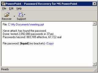 Findet die Passwörter von geschützten MS Powerpoint Präsentationen heraus