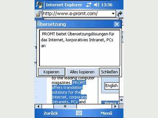 Übersetzer für komplette Textdateien auf dem Pocket PC