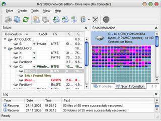 Software zur Rettung und Wiederherstellung von Daten.