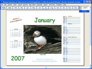 Software zur Erstellung eigener Fotokalender
