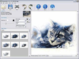 Creativ-Software zur Veränderung von Digitalbildern. Künstlerische Filter.