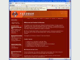 Toolbar für den Internet Explorer die RSS und RDF Newsfeeds anzeigen kann.